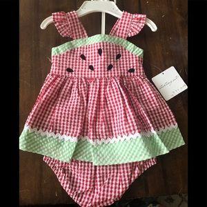 Belks baby girl Strawberry Romper